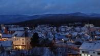 Première neige aujourd'hui à Belfort   un couché de soleil de décembre